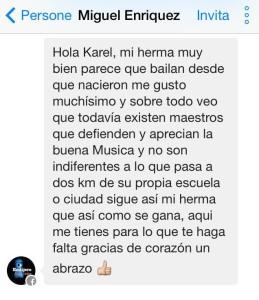 Mensaje Miguel Enriquez
