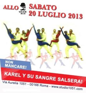 Karel y su Sangre Salsera 1051 20lug13